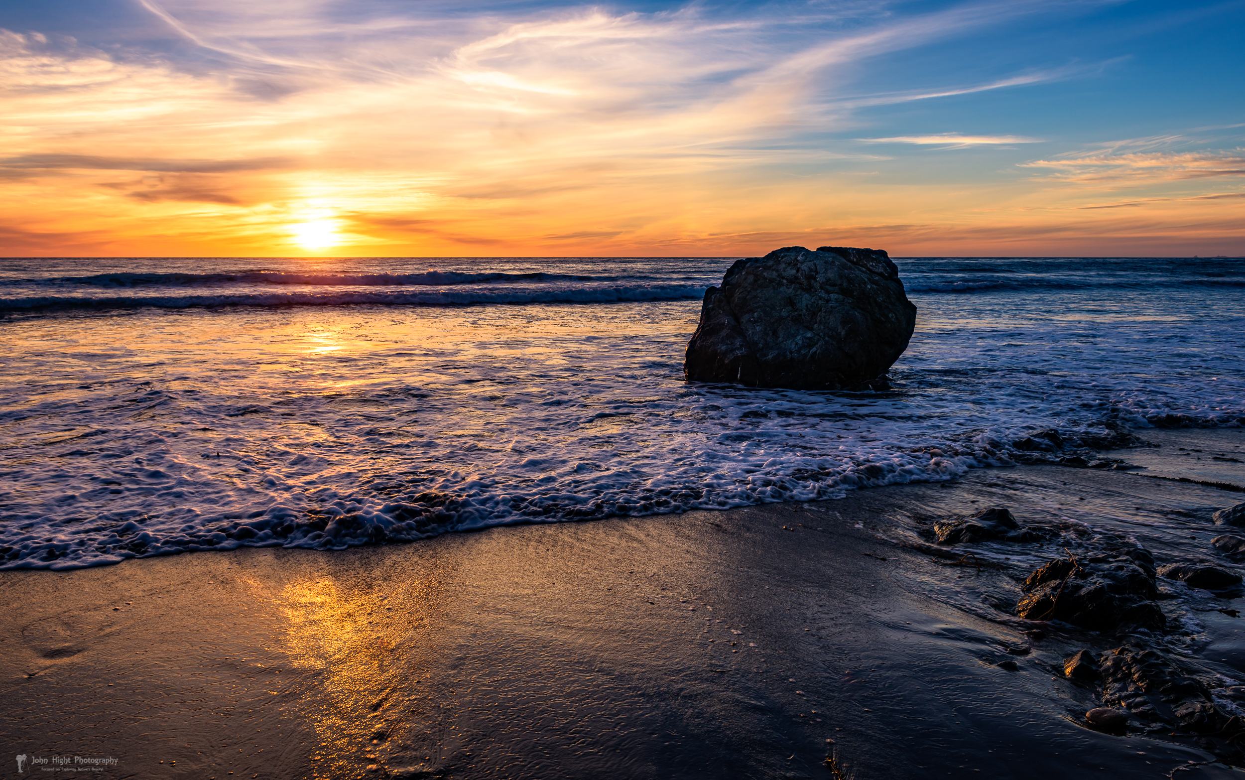 Sunset at San Simeon Beach
