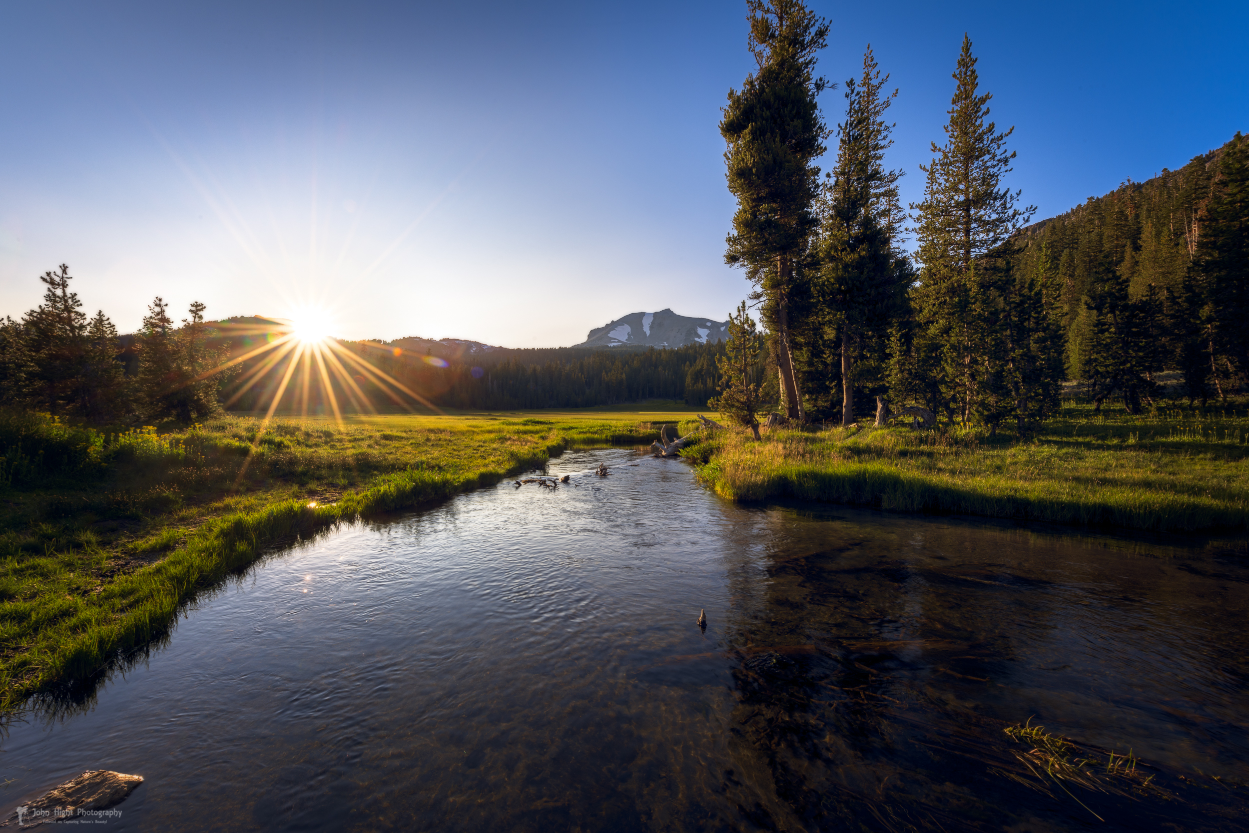 Sunset at Kings Creek in Lassen Volcanic National Park