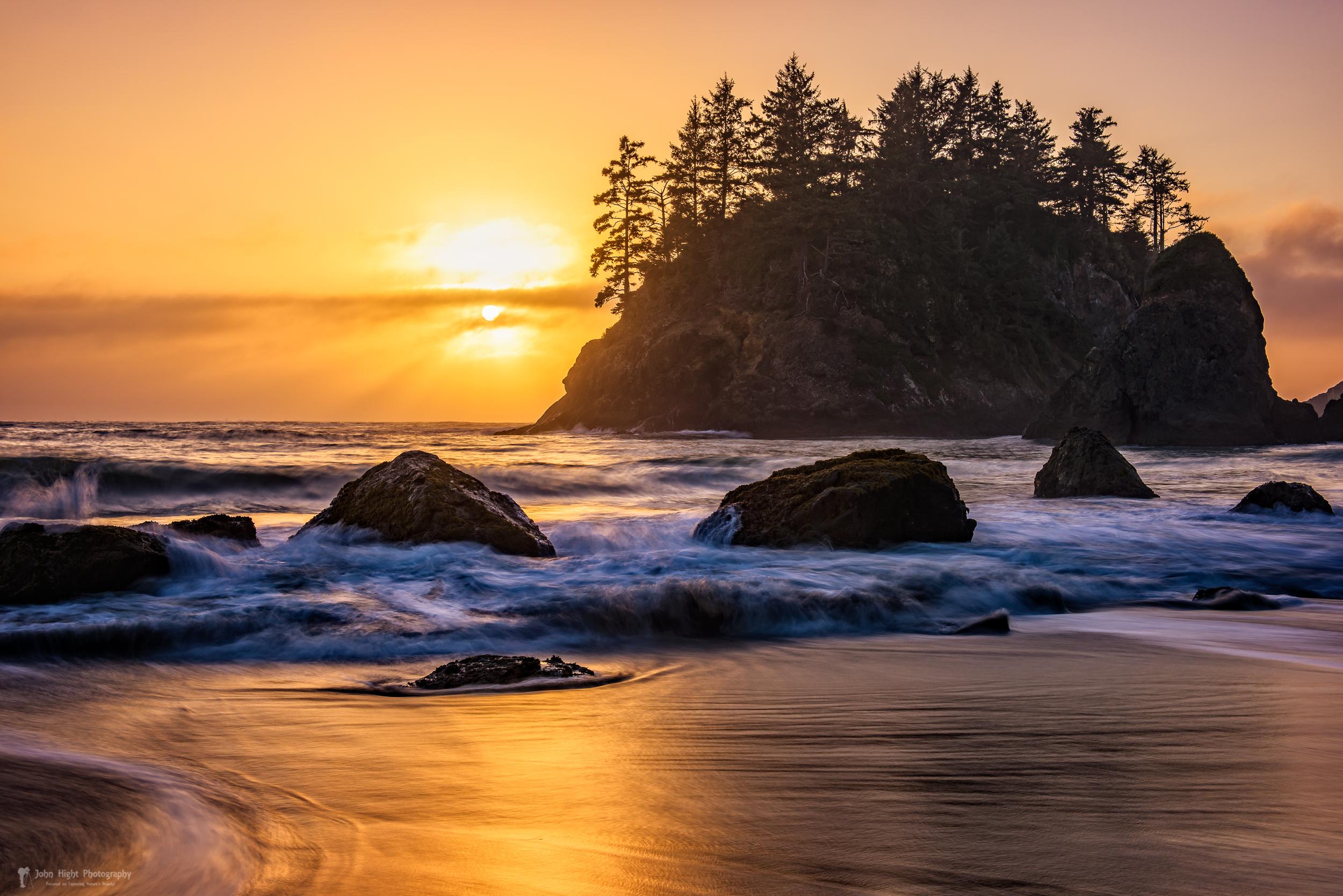Marine Layer Sunset at Trinidad, California
