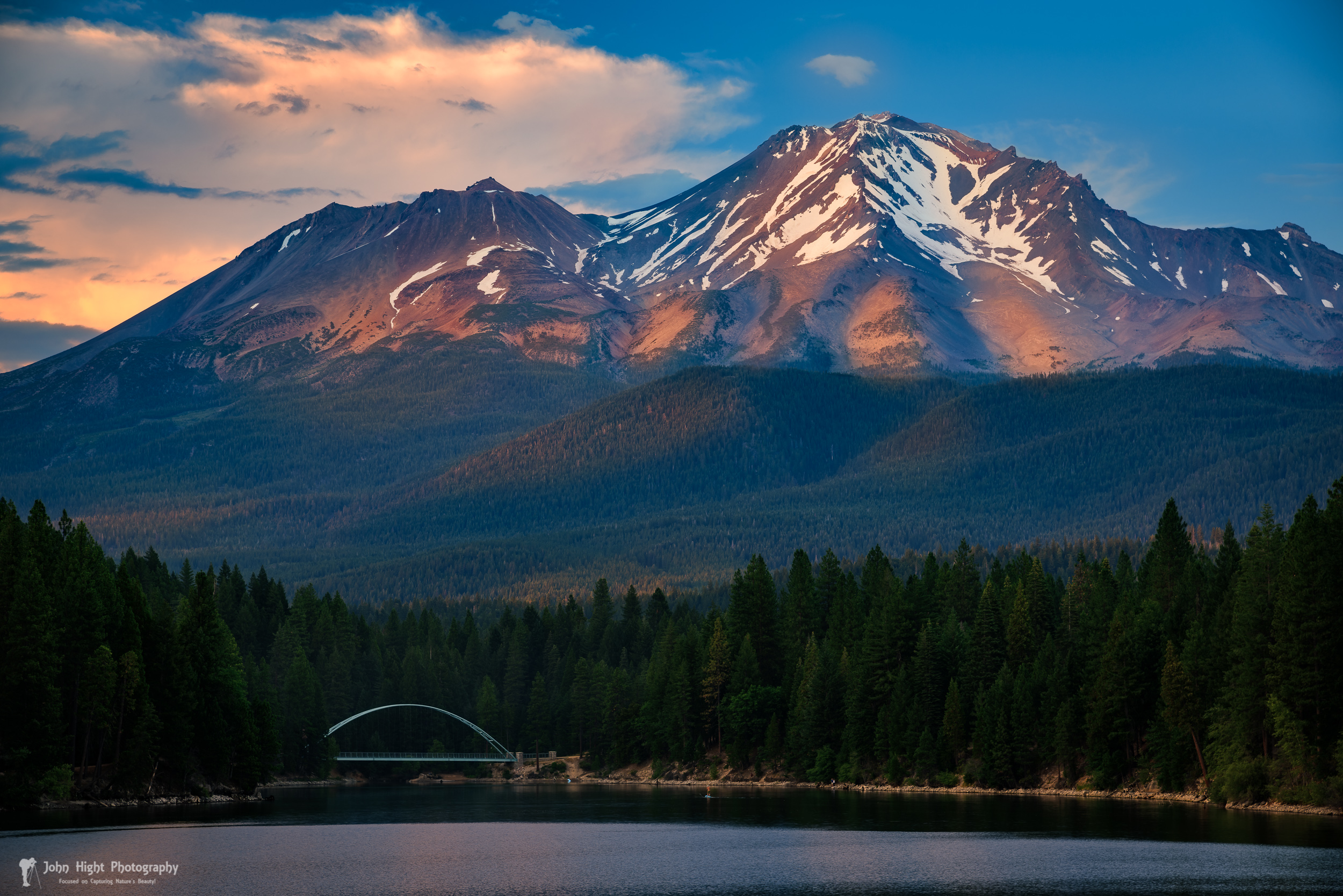 Dappled Light on Mount Shasta