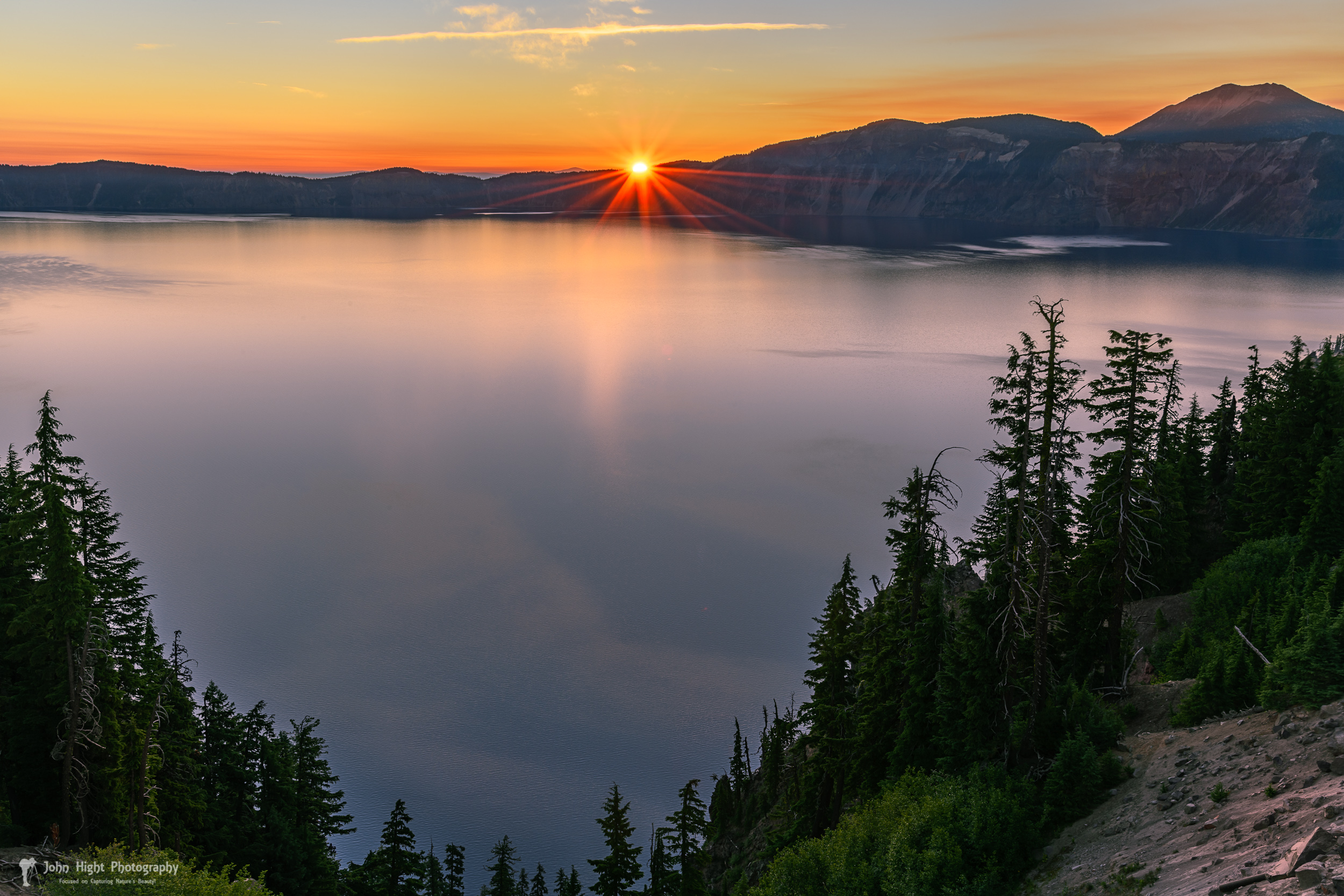 Red Sunrise at Crater Lake