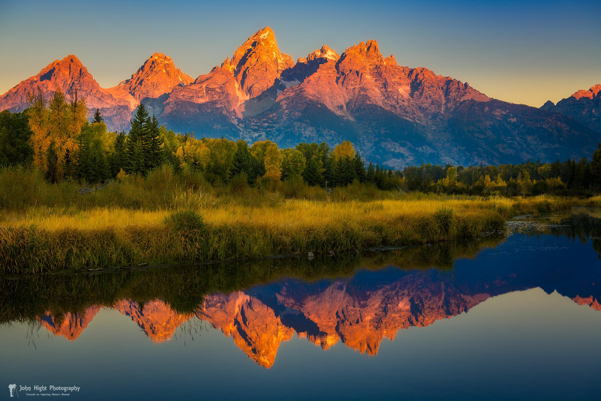 Morning View of Grand Tetons