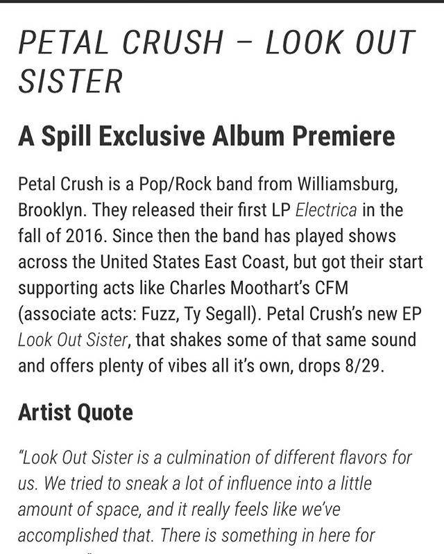 Thanks for premiering our new tunes! @spillmagazine
