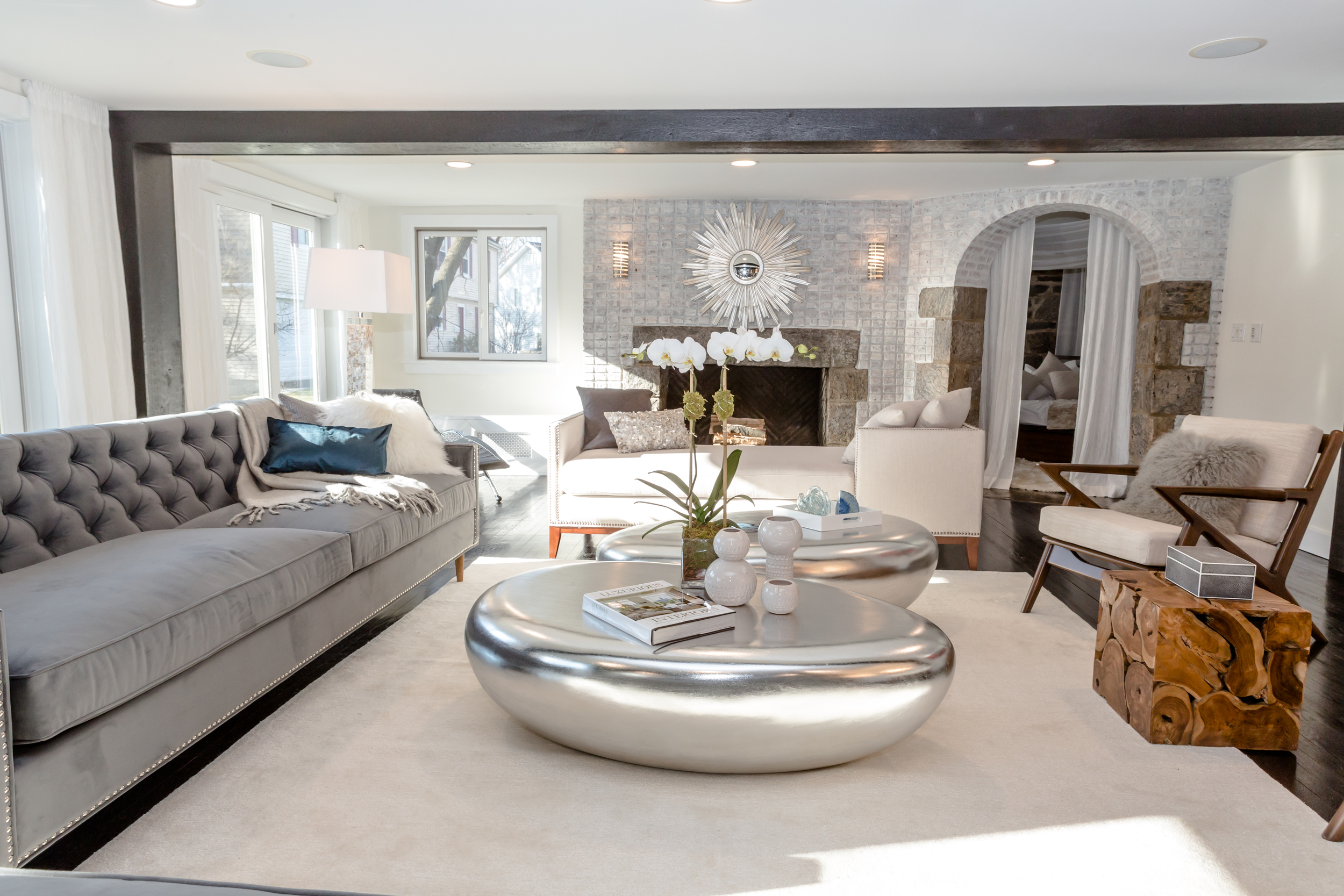 Luxury silver and grey interior deisgn