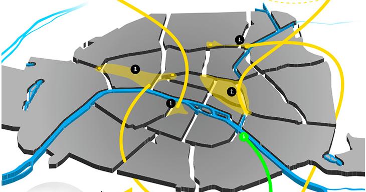 Paris Map, for the 5 best neighbourhoods celebrating PDW2016