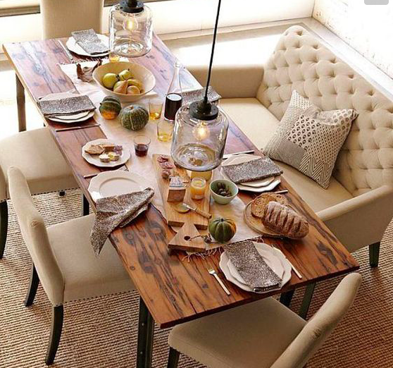 Elm Dinning table for relaxing family meals  Via www.crdecoration.com