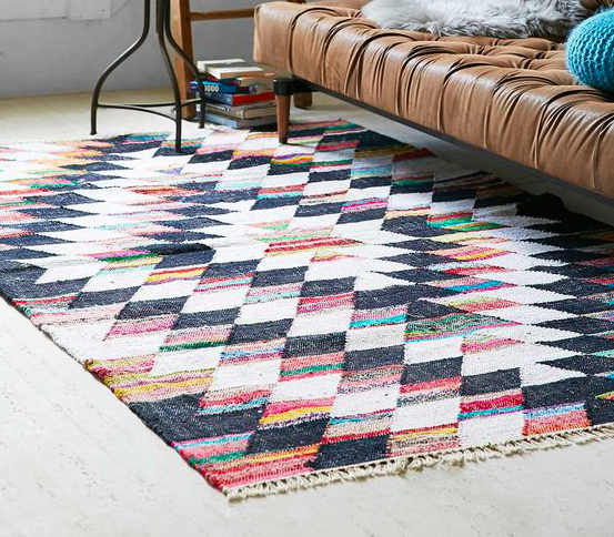 Credit: Marieke.fr  Dhurries and kilims are flat-woven wool and cotton rugs that are usually reversible. Known for their bright colors and graphic patterns, they tend to be durable, easy to clean and work just about anywhere.