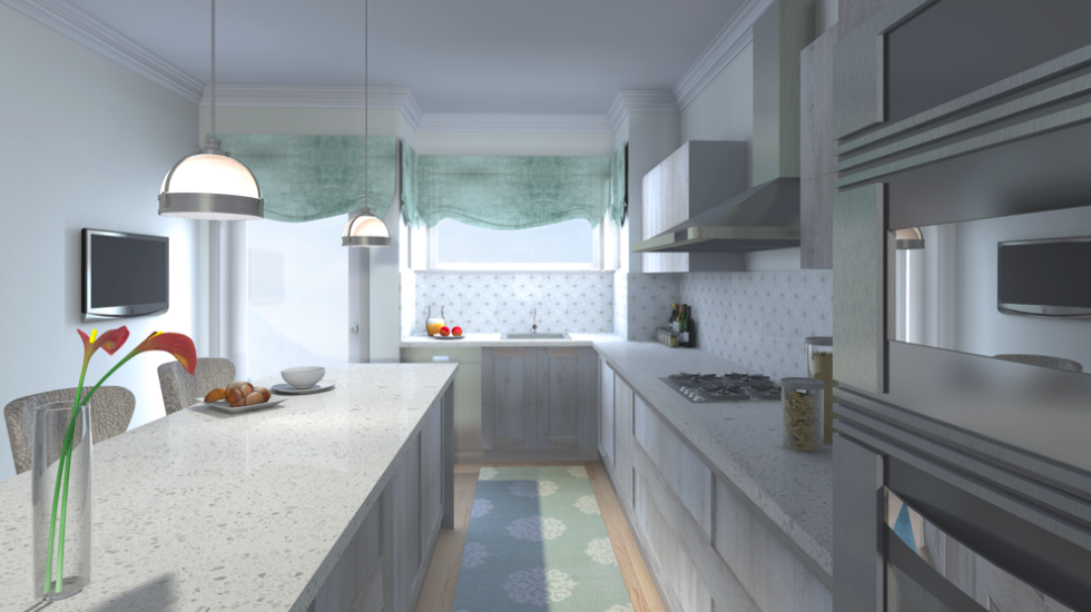 3D render of the Kitchen !