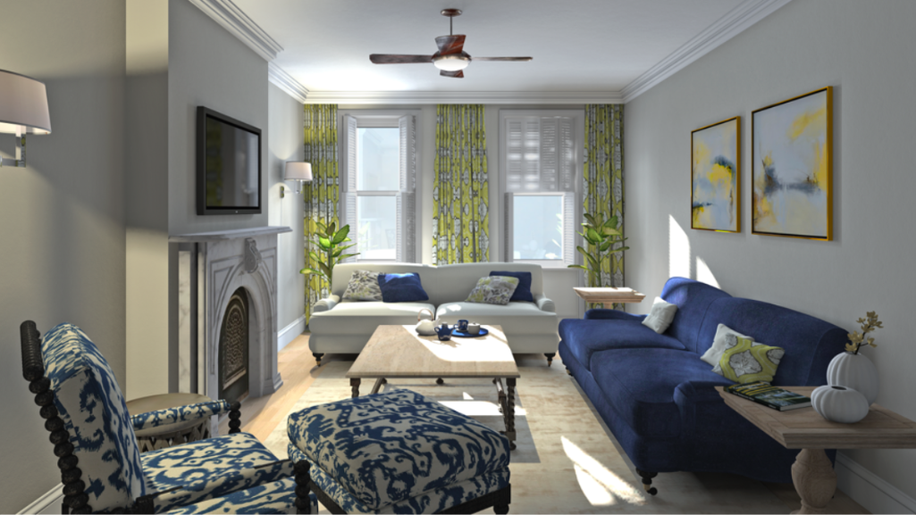 3D RENDER of the Family room.