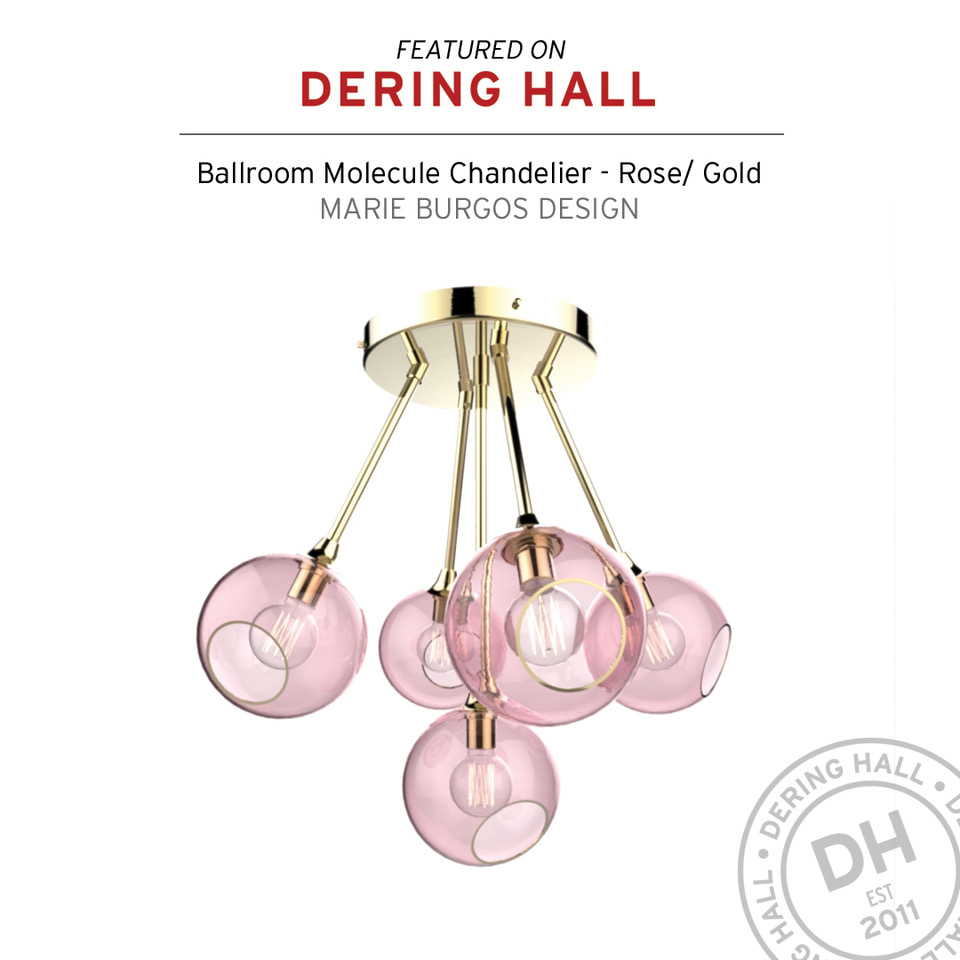 Ballroom Molecule Chandelier. Rose Gold