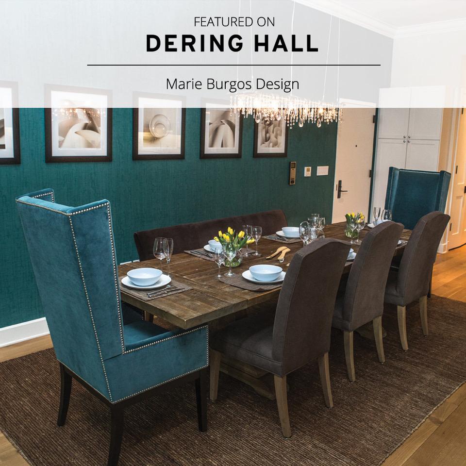 Marie Burgos Design. Dering Hall