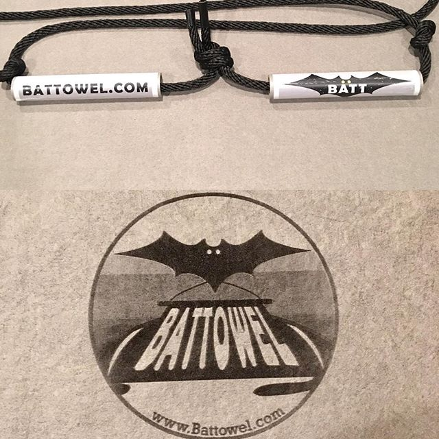 "New and improved Battowel's with easy to pull handles! ""Spread the word, and the water"""