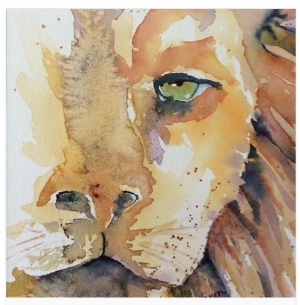 100% of proceeds from the sale of the Luka The Lion Watercolor by artist and nurse Bren Sparling goes directly to the Luka The Lion Foundation.  Click here  to purchase your copy.