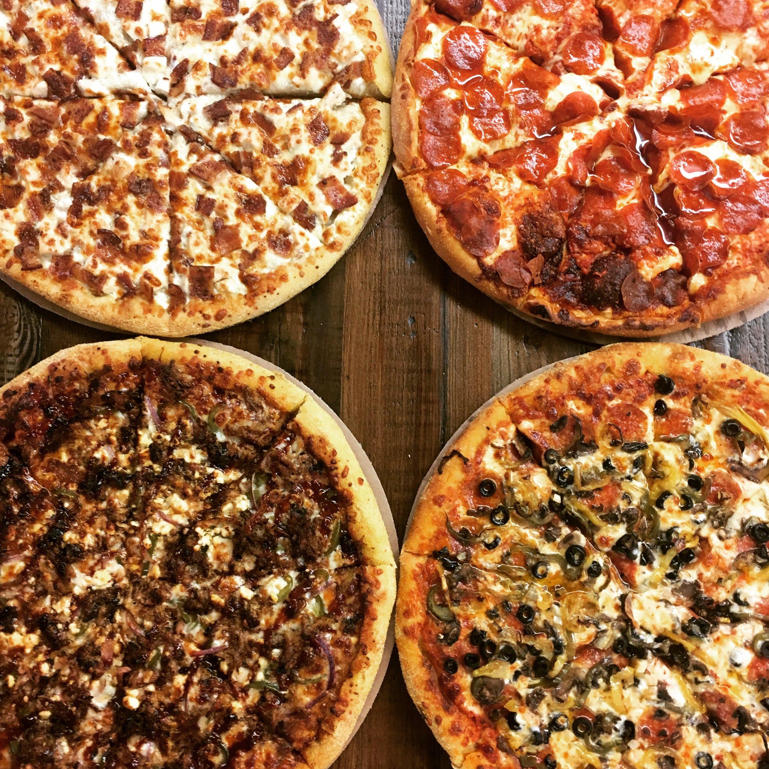 Handmade pizza near Charlevoix Michigan Torch Lake foccacia crust  Friske Farm Market