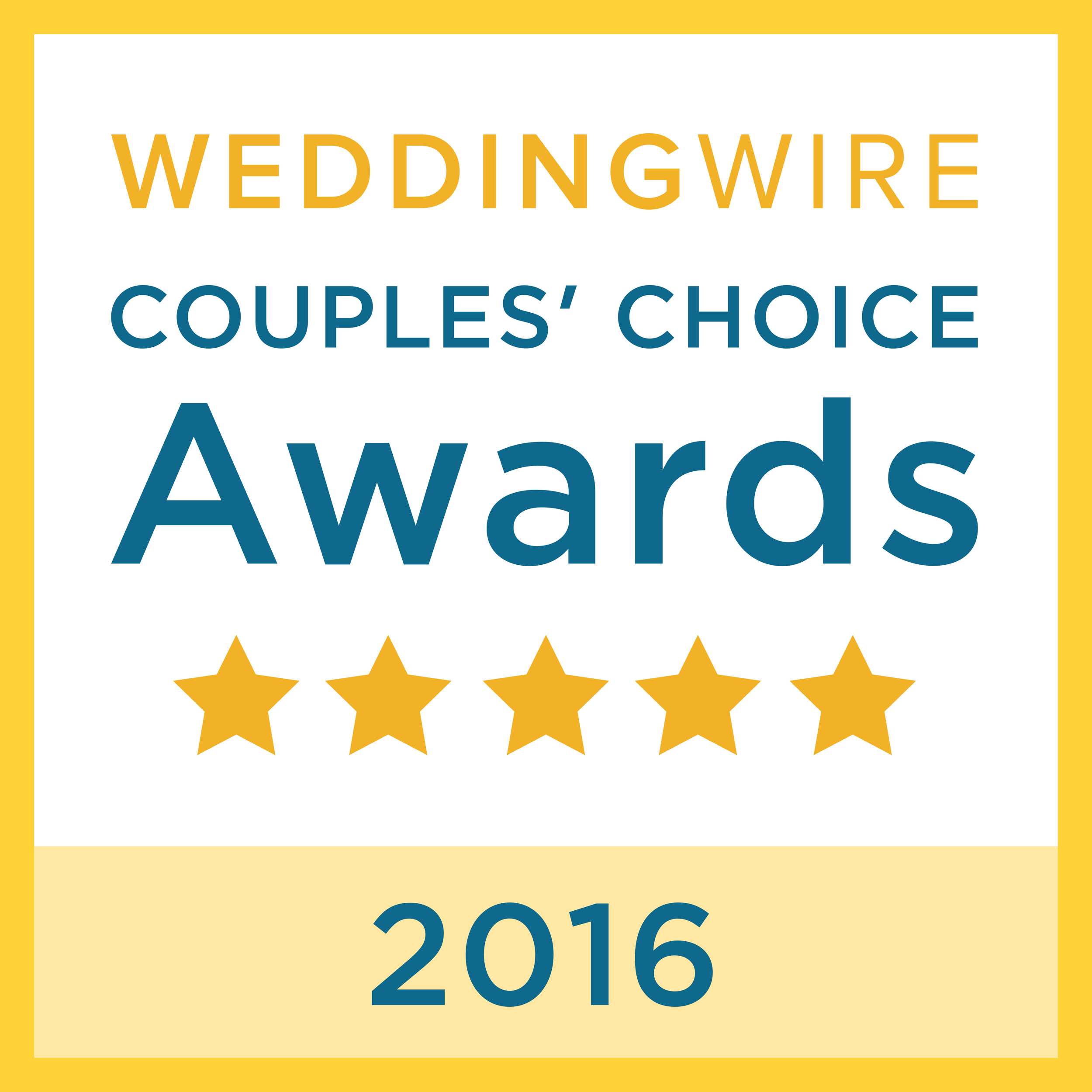 Winner 2016 Wedding Wire