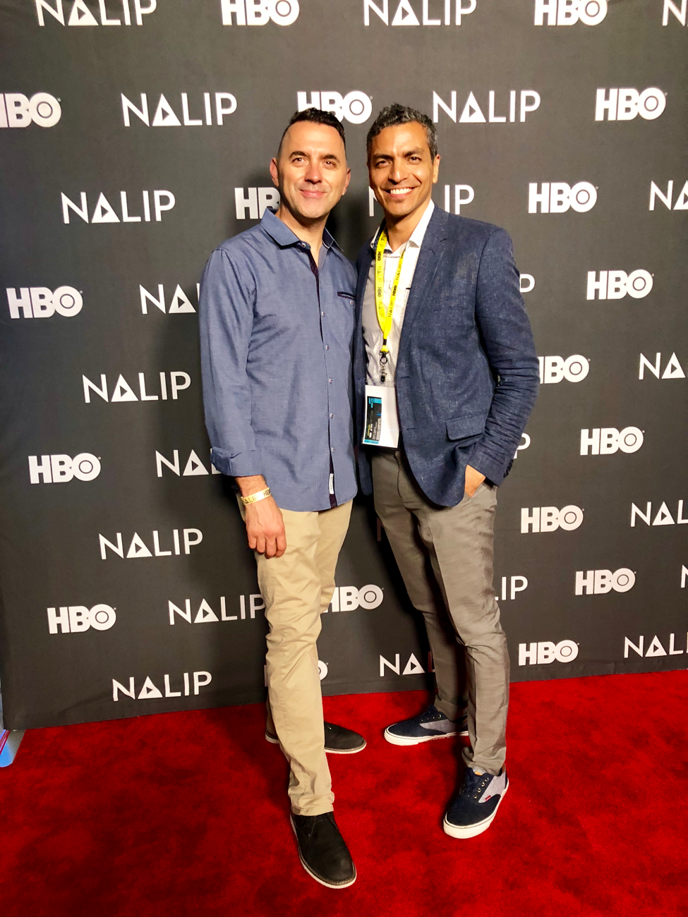 René and Donald at the summit sponsored by  HBO .