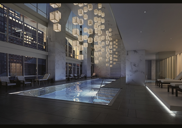 One57 Indoor Pool via  Extell Development