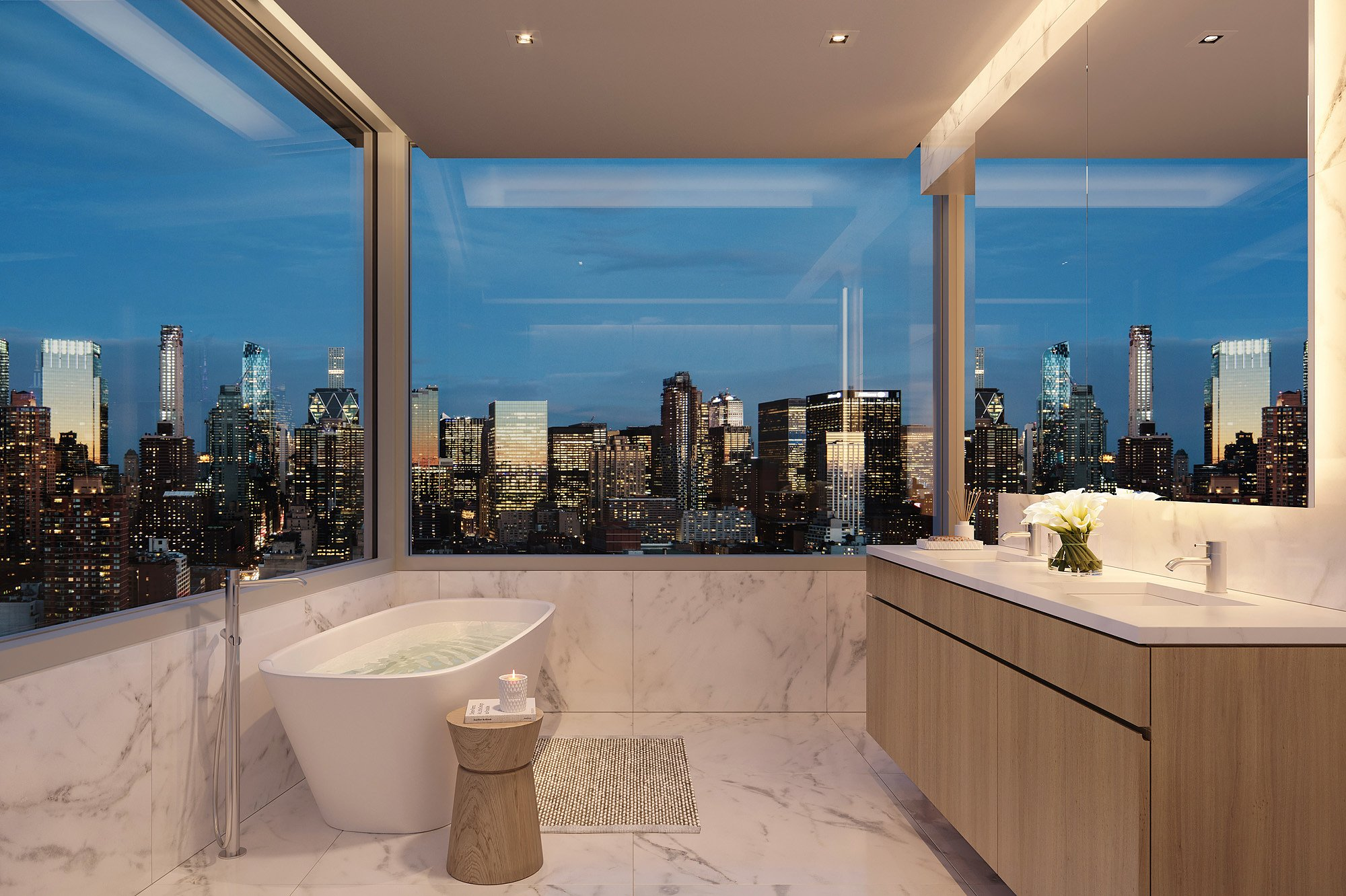 611 West 56th Street Master Bath