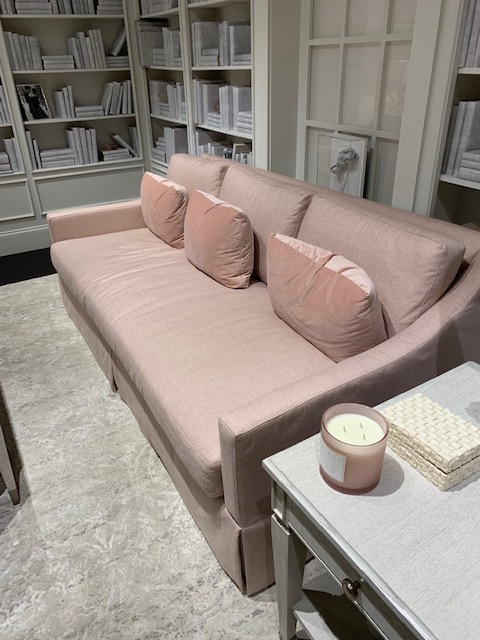 High Point  Bernhardt  Showroom with a new track arm Sofa in Blush