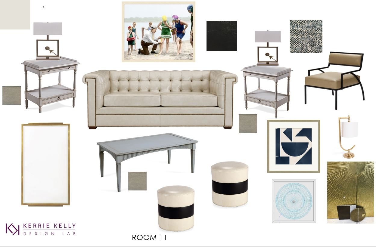 Each designer has multiple spaces, and here is one of Kerrie Kelly's mood boards.