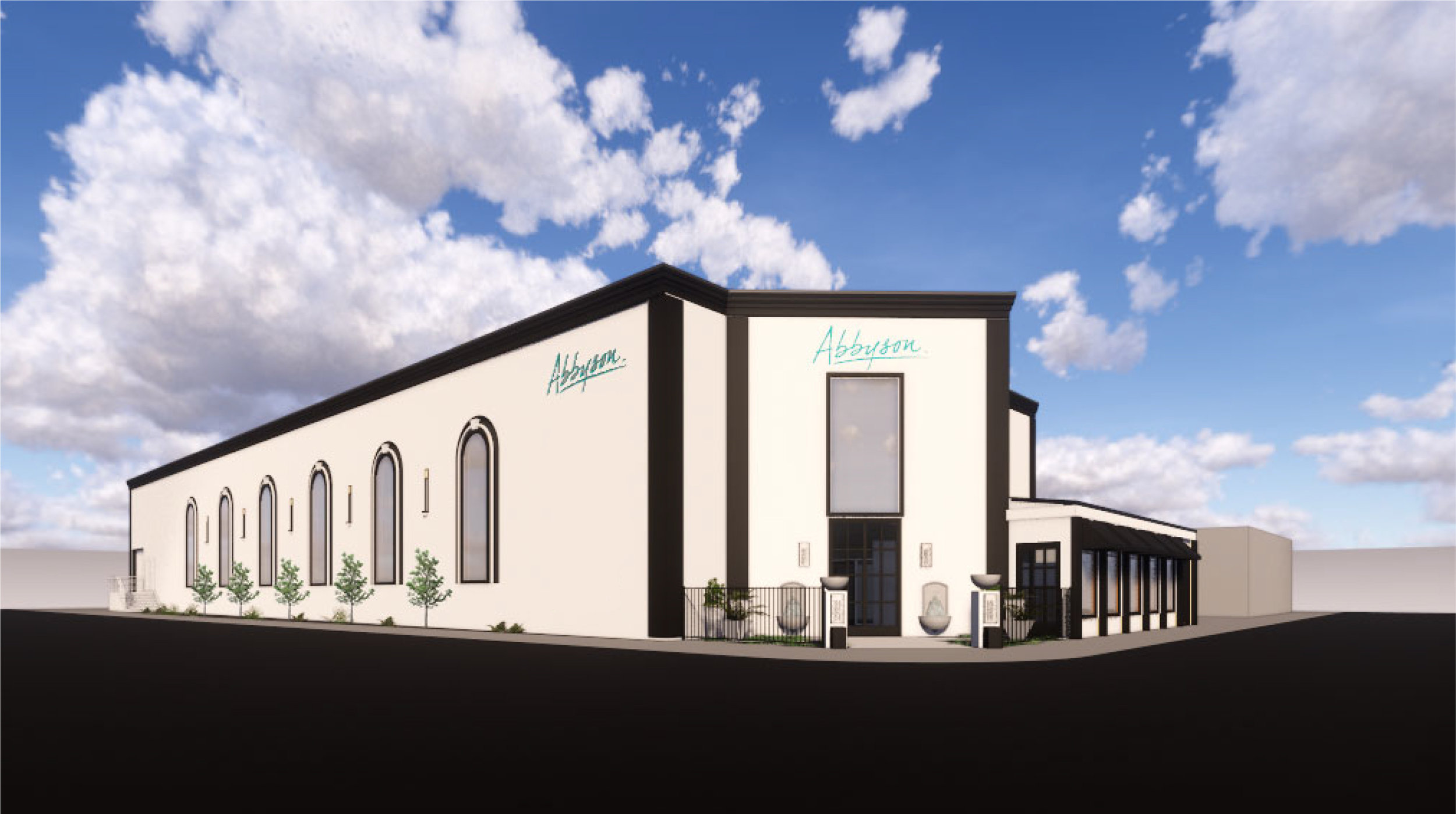 A rendering of the new Abbyson showroom at 300 E. Green Street at the corner of Hamilton.