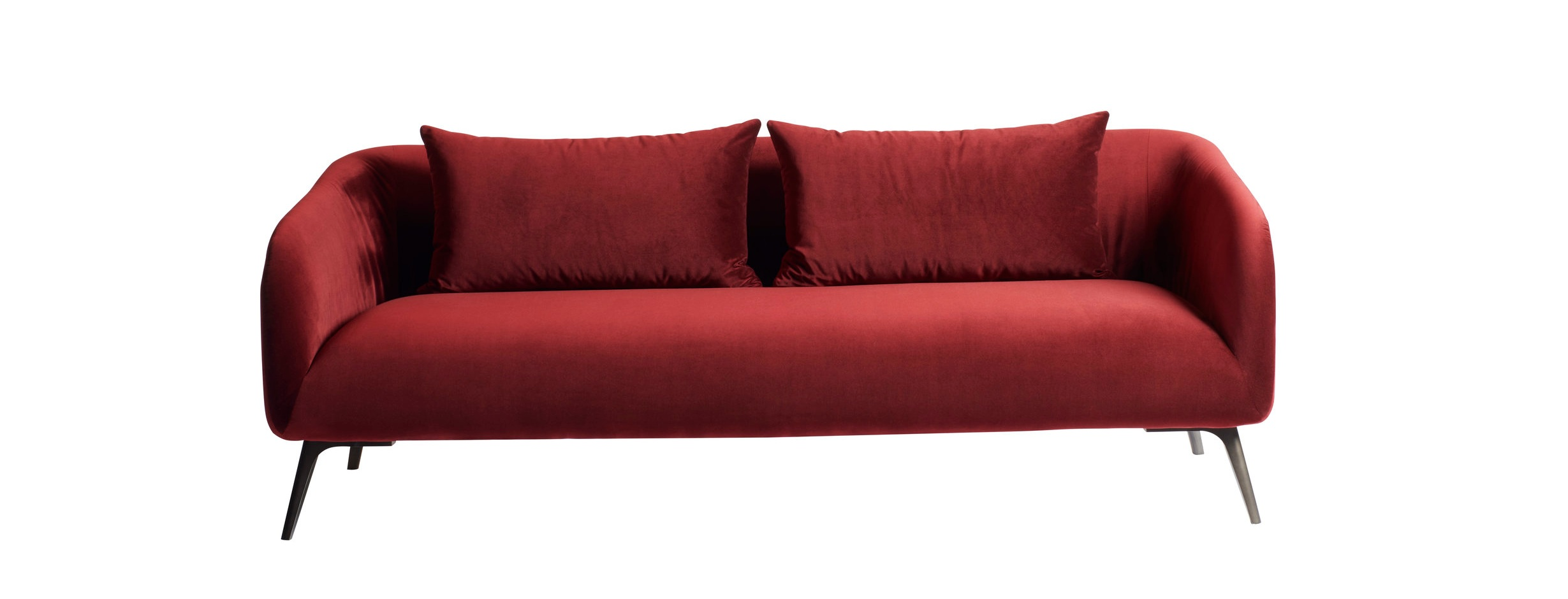 """The 87""""W Moulin sofa is covered in a performance velvet."""