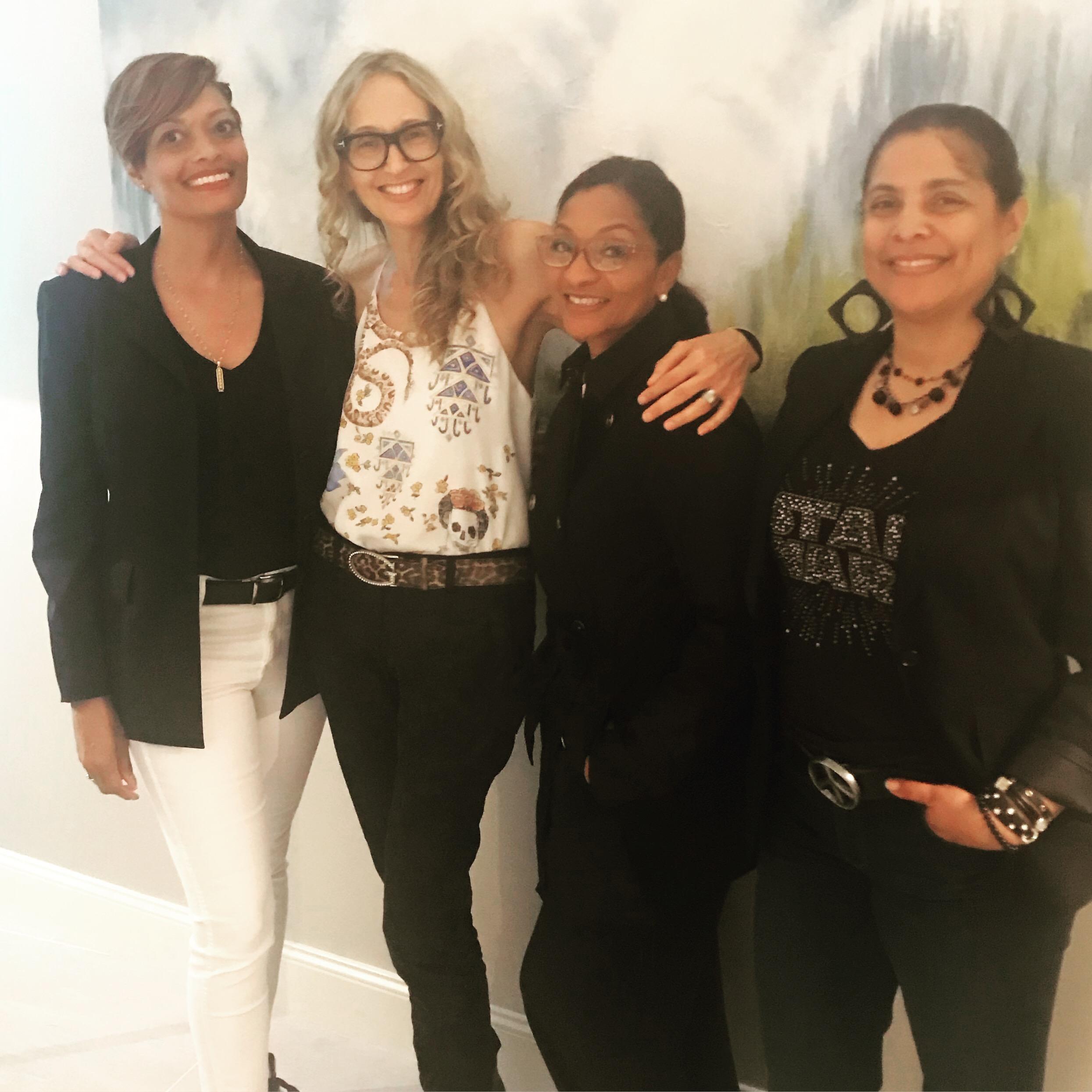 With Atlanta designers Rhonda, Marsha, and Cookie (whom I first met at ADAC and Americasmart)
