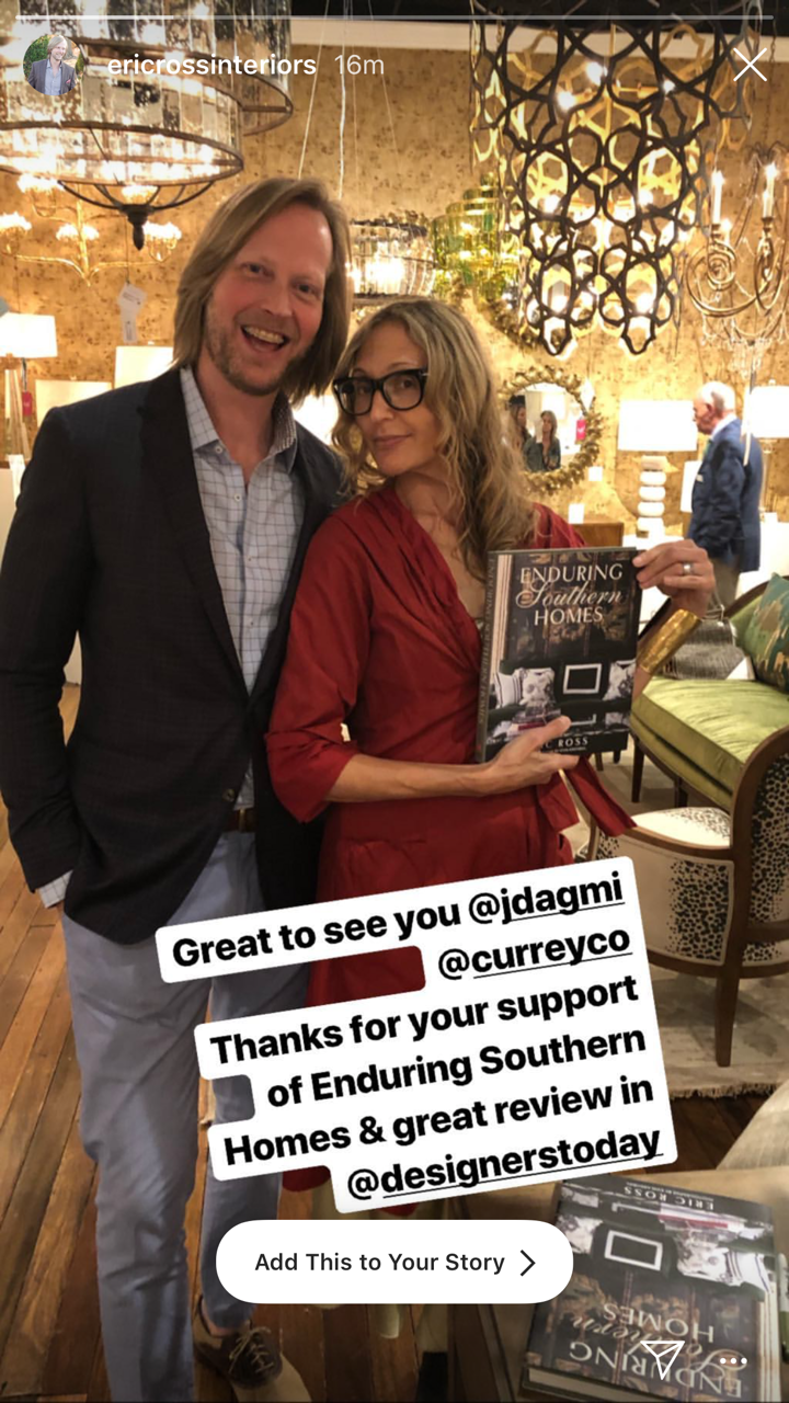 """Eric Ross at his Currey & Co. """"Enduring Southern  Homes""""  book signing. Eric makes me feel petite."""