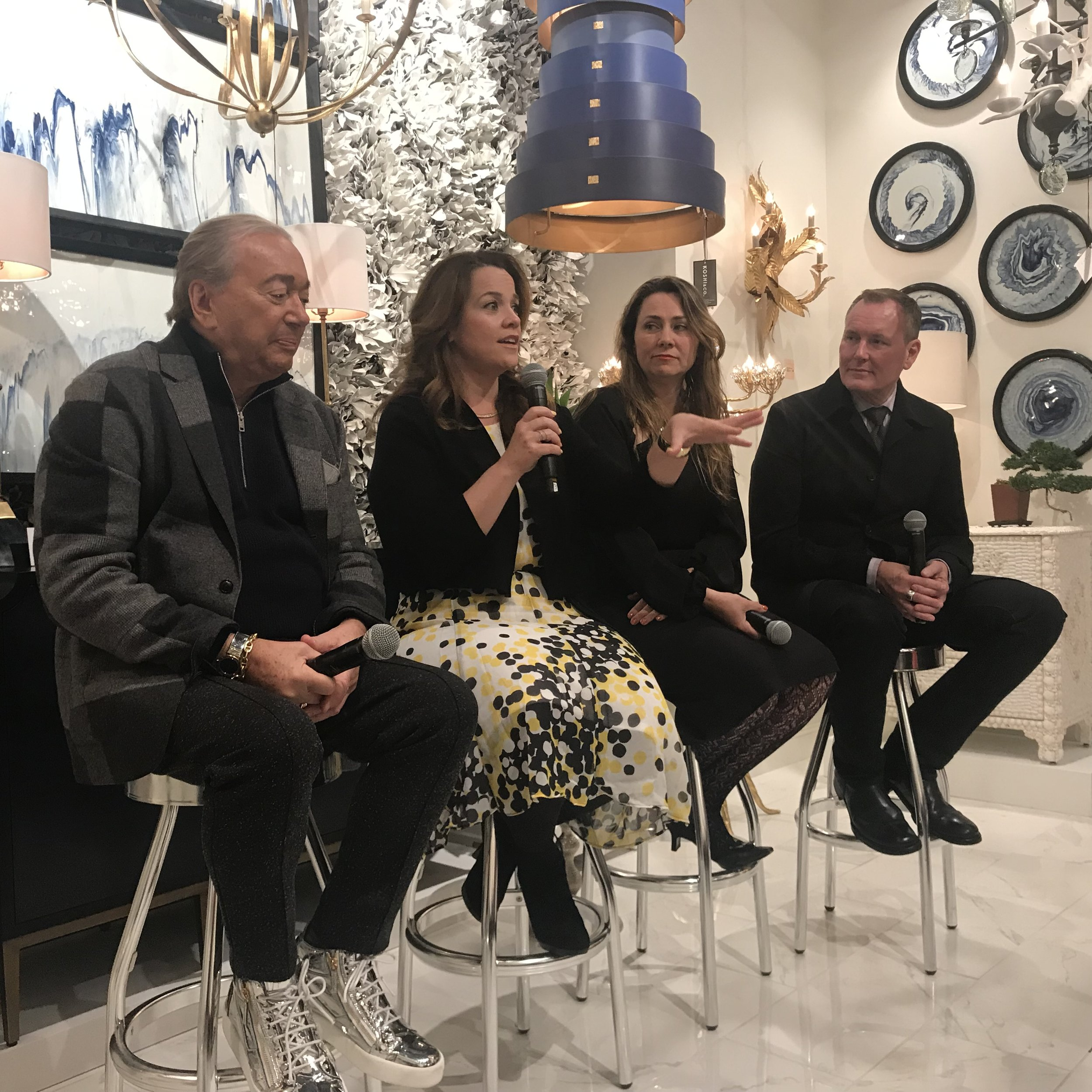 DT sponsored a great panel on the Art of Collecting with Larry Laslo, Stacey Tiveron, Michelle Workman, and Barry Dixon. Hosted by Currey & Company.