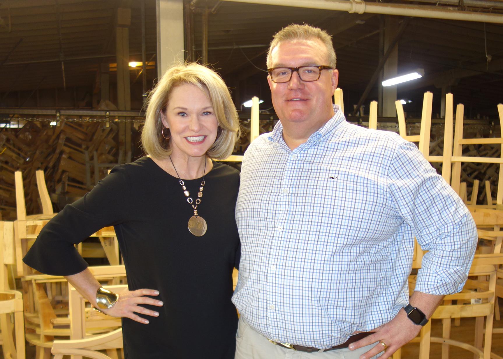 Libby and Dixon at Fairfield's Lenoir facitility.
