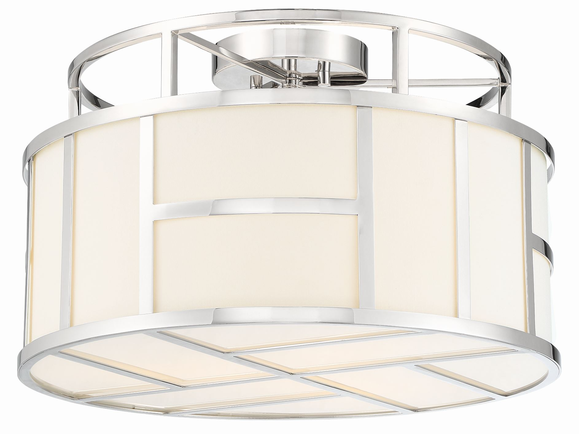 Crystorama's Danielson Collection flush mount is designed by Libby Langdon.