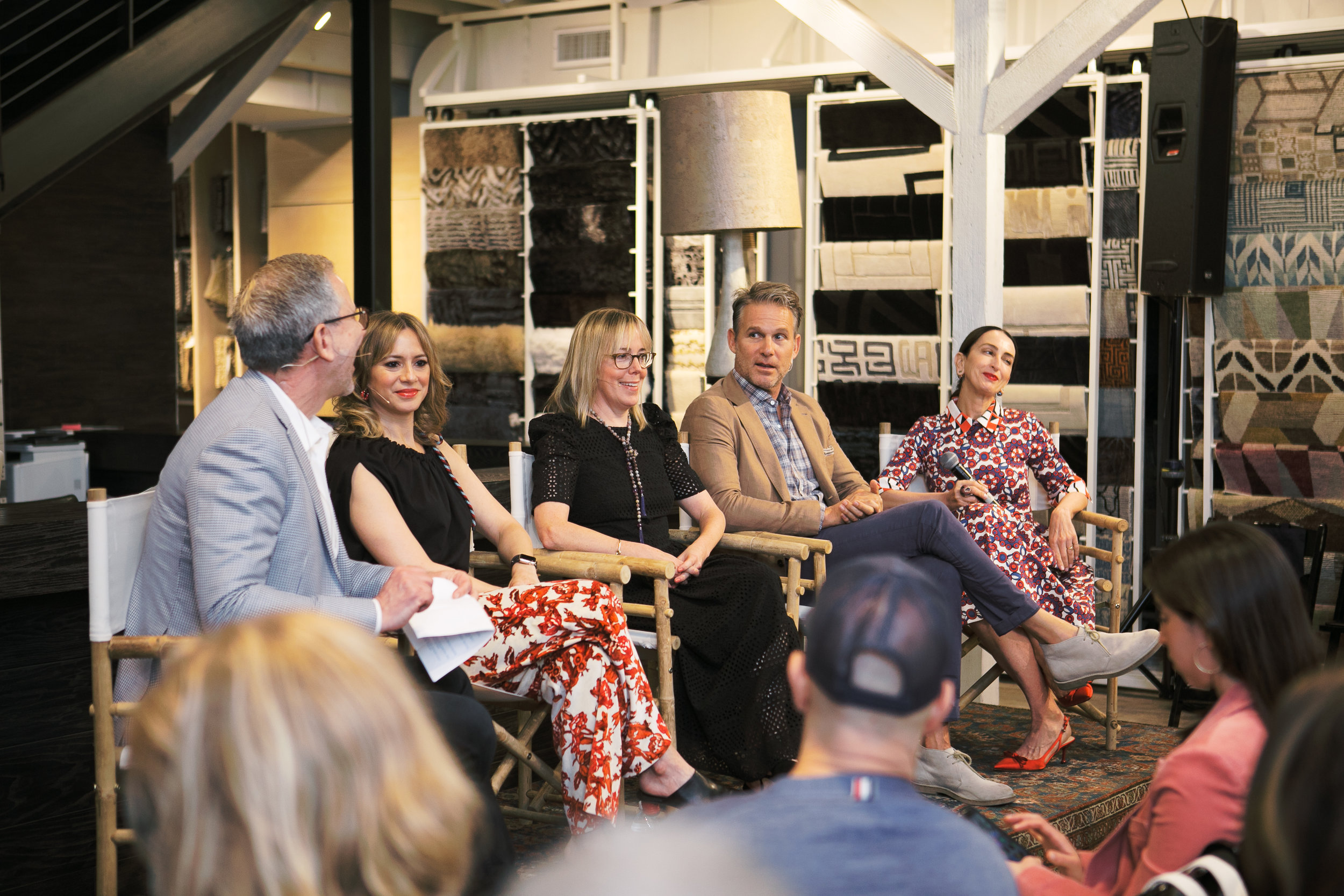 The P.R. panel moderated by Dering Hall's Michael Boodro (left.) included: Laura Urband, Sarah Boyd, Jeffrey Alan Marks, and Christina Juarez.