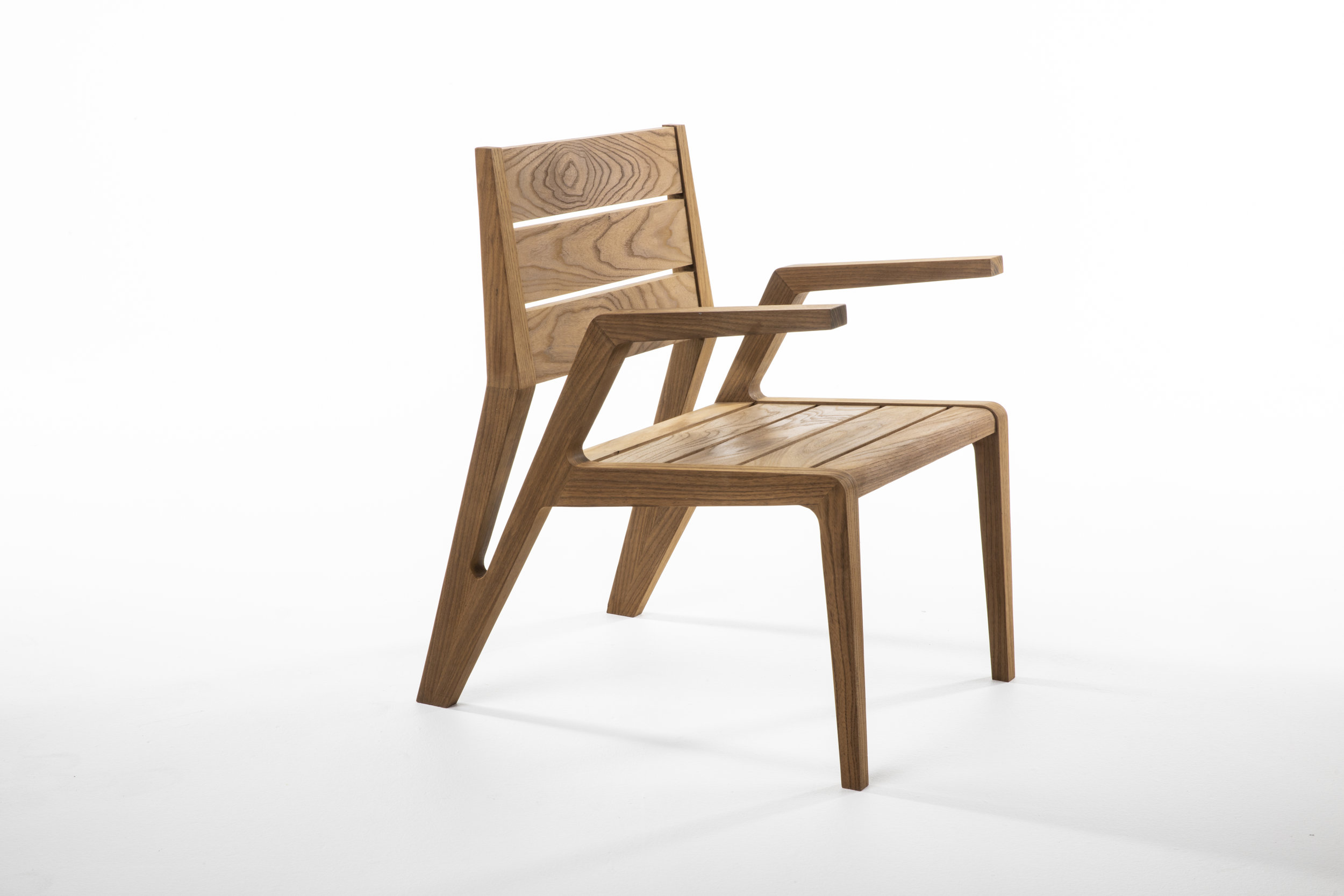Aaron Atwood won the innovation award for a dining chair design.
