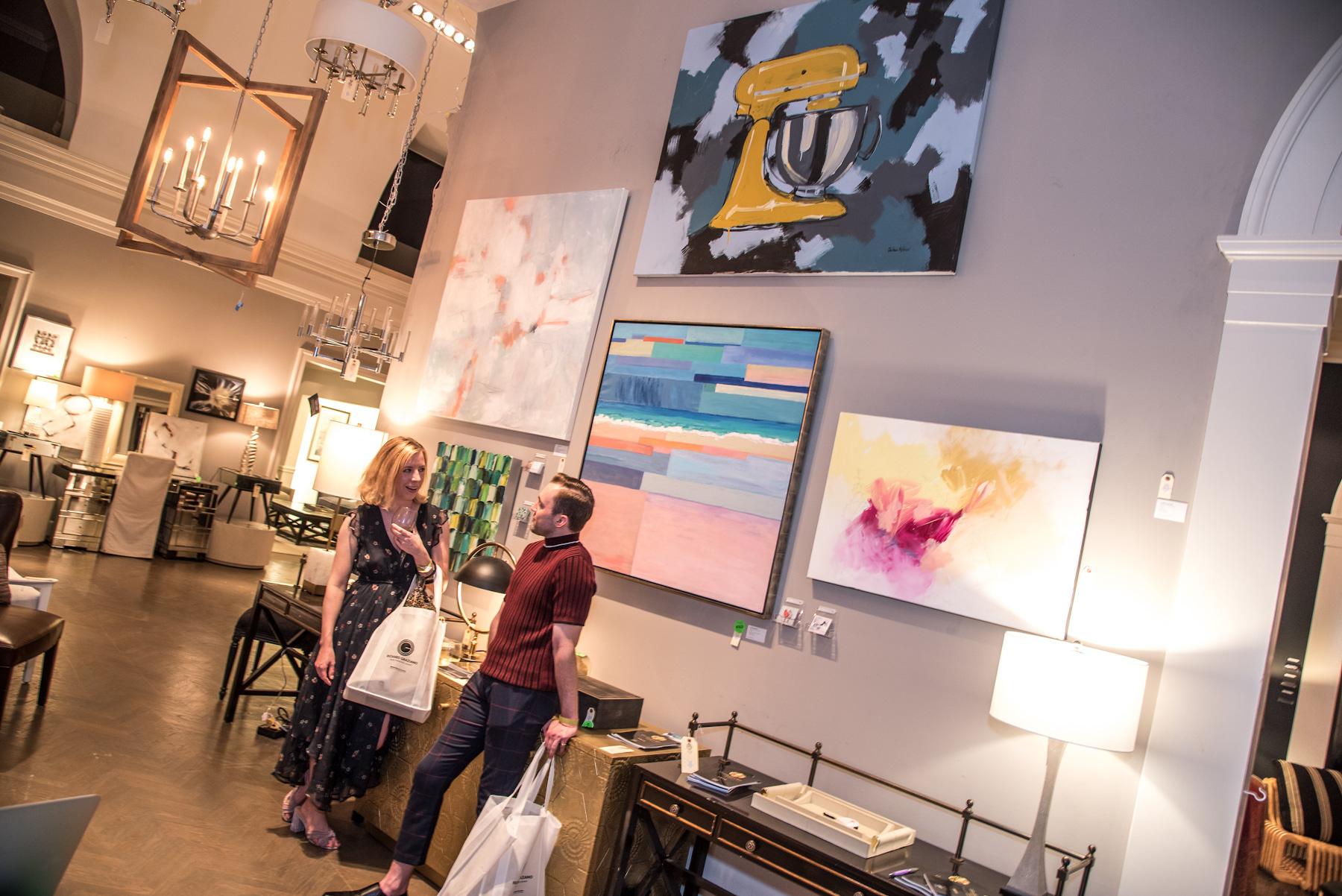 Dwell with Dignity's Thrift Studio is an annual 2-3 week pop-up shop fundraiser that features designer-curated vignettes filled with overstock of donated new and gently used furniture, housewares, accessories and high end designer finds.  PHOTO: Bret Redman