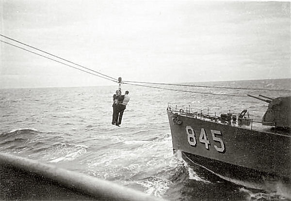 Korean War, transfer to ship