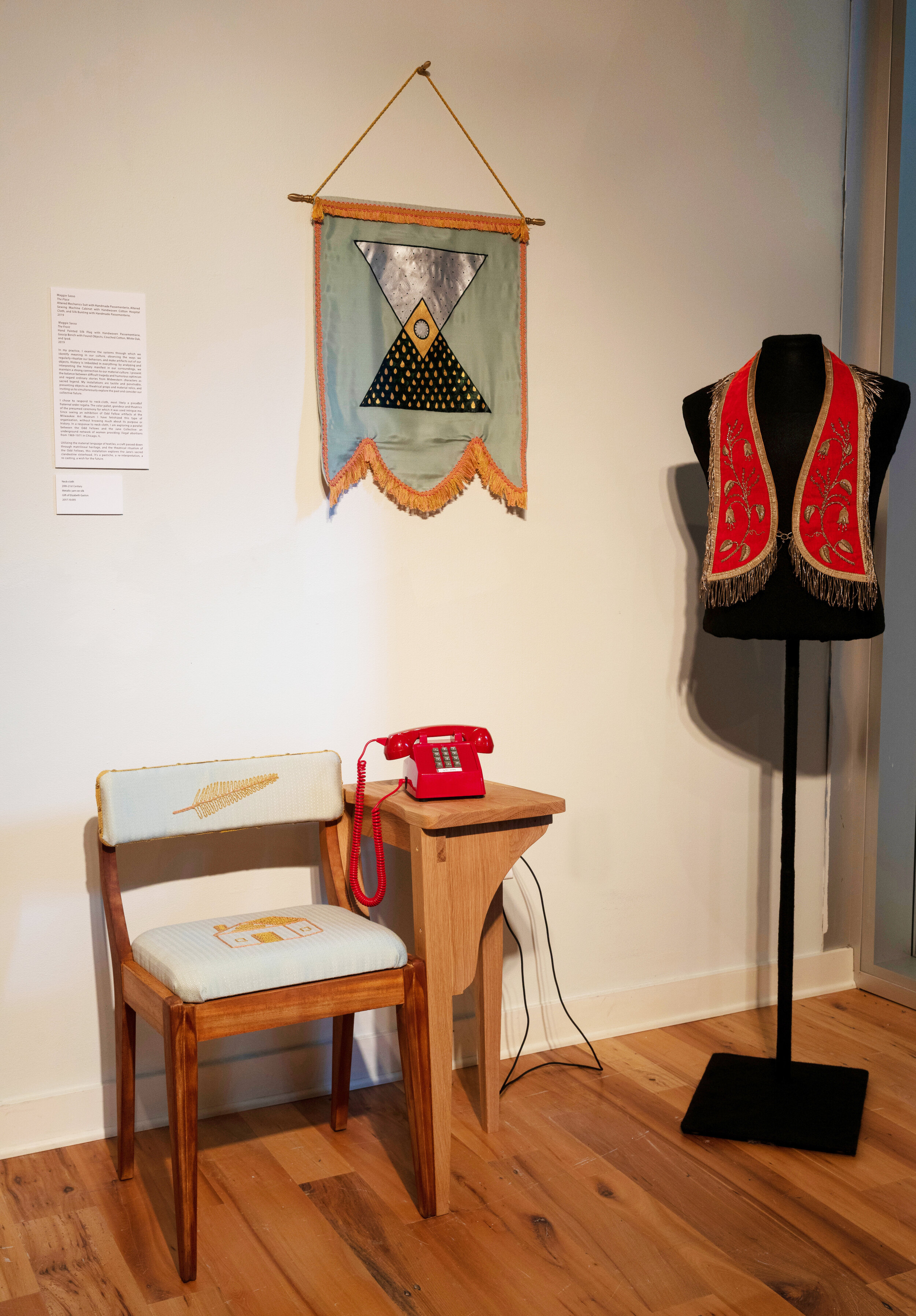 The Front , with  Neck-cloth  from the Helen Louise Allen Textile Collection, 2019  Points of Departure Exhibition  Photo Credit:  Andy Manis