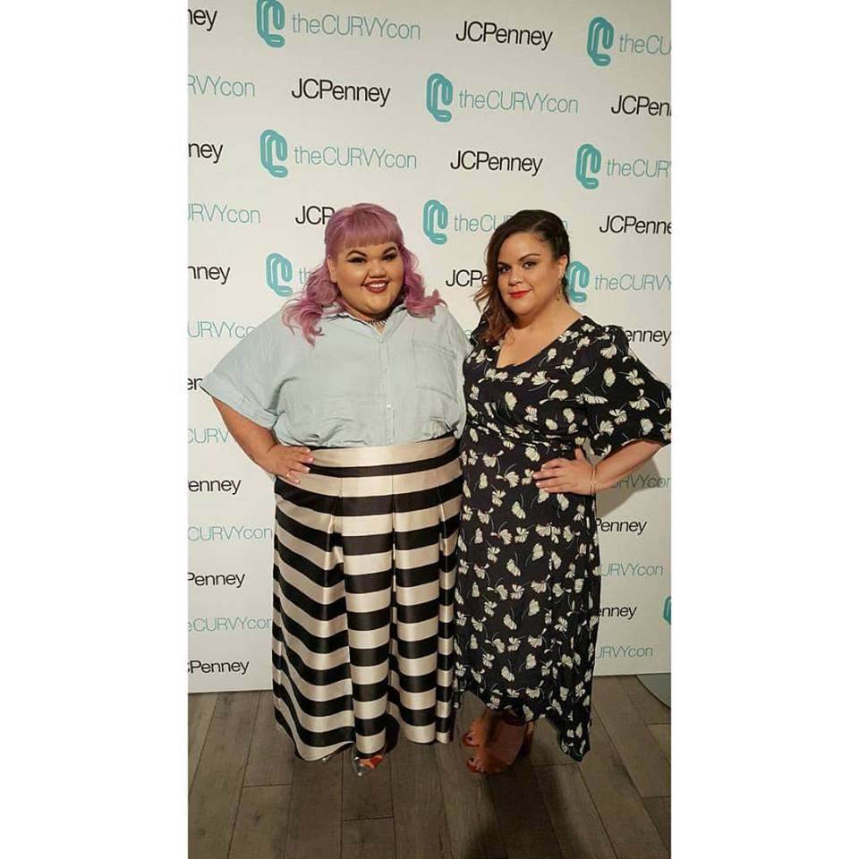 At  CurvyCon  with  Ashley Nell Tipton , winner of  Project Runway . Photographed by  Su-Style.com . Dress by  Eloquii .