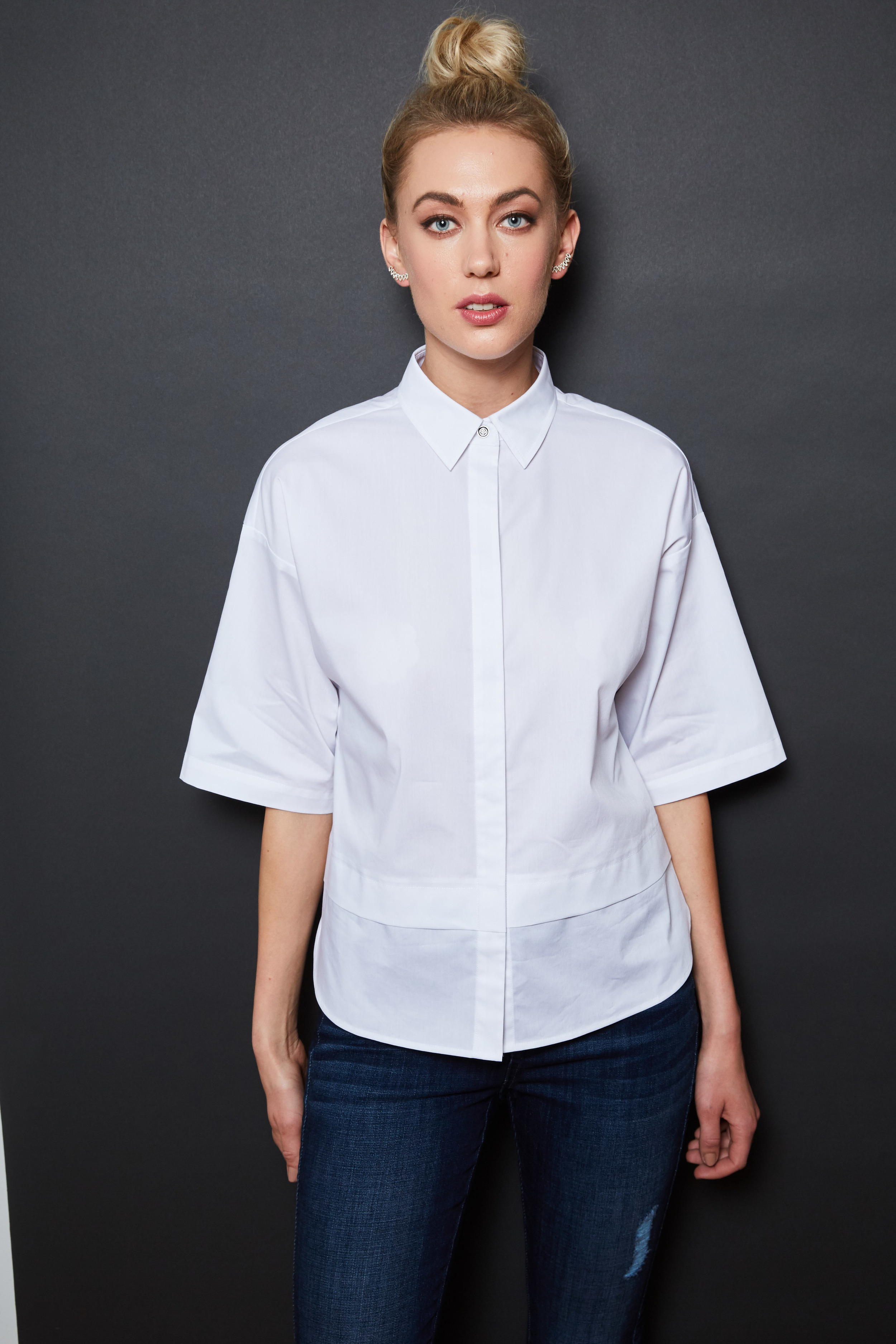 Nautica shirt, $98;  nautica.com . Levi's jeans, $36.99;  jcpenney.com . Bauble Bar ear crawlers, $34;  baublebar.com .
