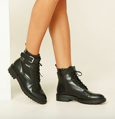 Forever21 Lace-Up Booties, $34.90; forever21.com.