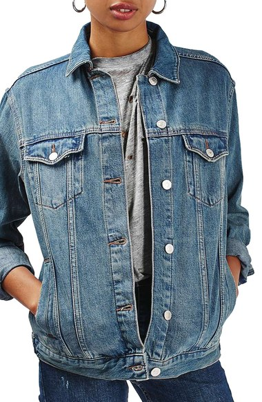 "Top Shop ""Moto Western Denim Jacket"", $85.00; nordstrom.com"