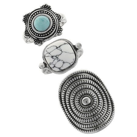 """""""I love statement rings that give off a vintage or southwestern vibe. You can't beat the price of these three rings ( $9.99 ), and you can wear them all together, or one at a time."""""""