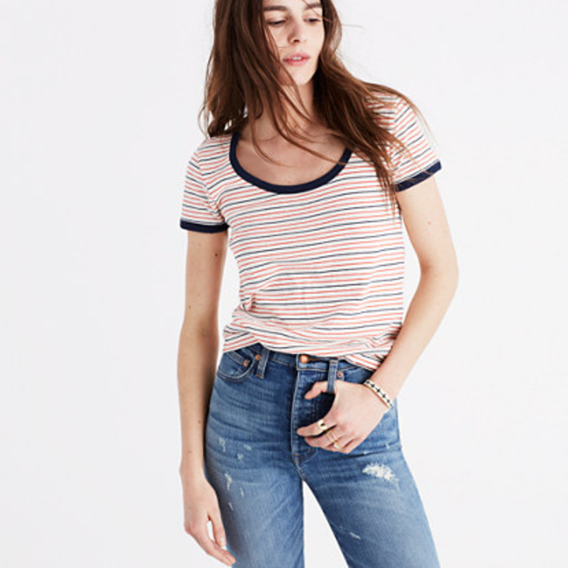 This striped number will be your go-to when you're running out the door.  Madewell, $32, madewell.com