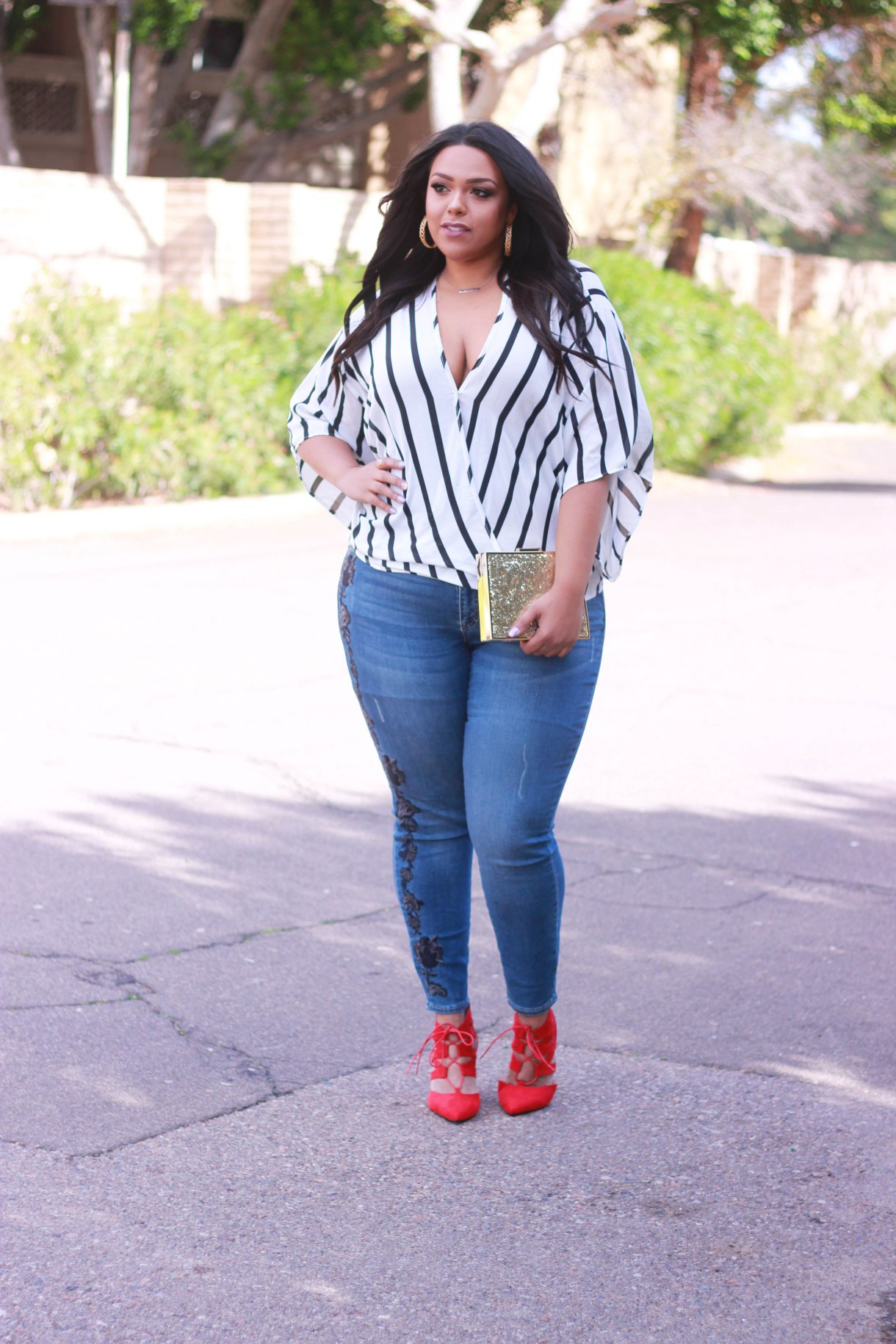 As worn by  Nicole Simone of Curves on a Budget