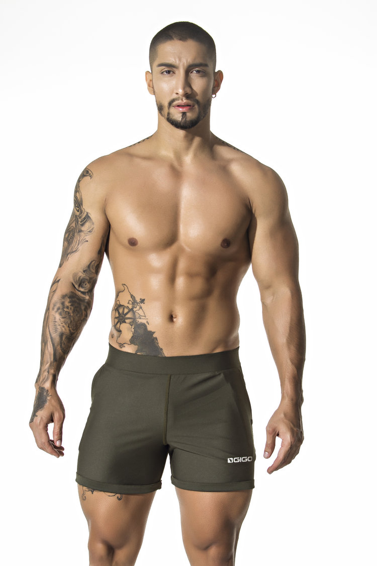 dbd81d4eefec B29129-Short Pants Basic Green.Ffront.jpg