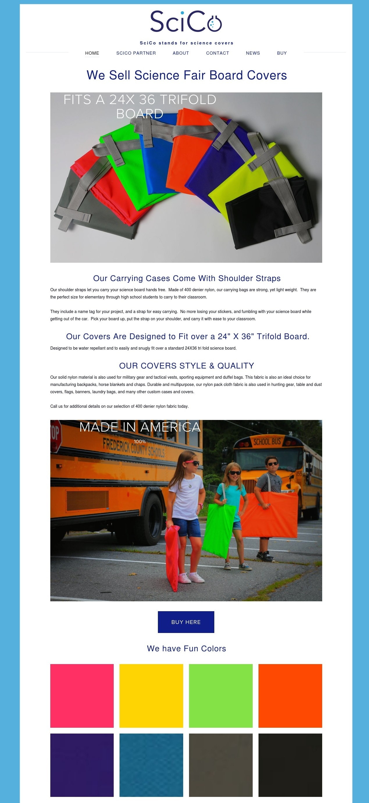SciCo Products - This is an ecommerce website that ships to anywhere in the US. We did a full model photo shoot, with releases, for SciCo Products. In only 6 months SciCo Products is # 1 in Google for many search terms. Out of 35,300,000 websites she is number 1 and number 2 for science fair carrying cases in Google, not bad for 6 months.