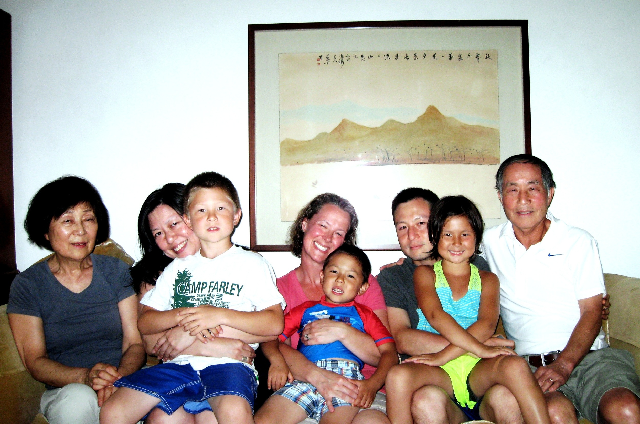 With family, 2013