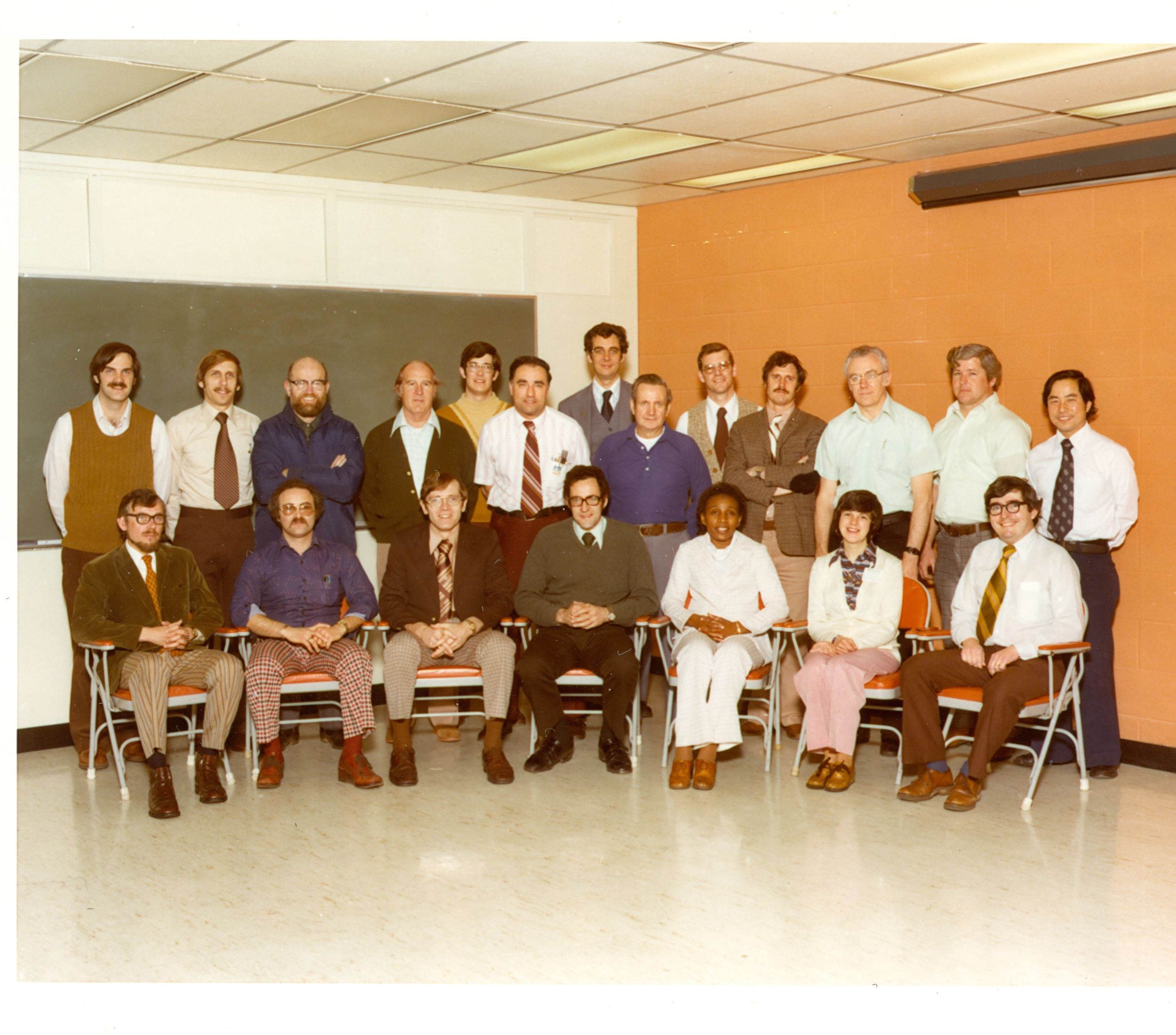 With colleagues from AT&T, 1977