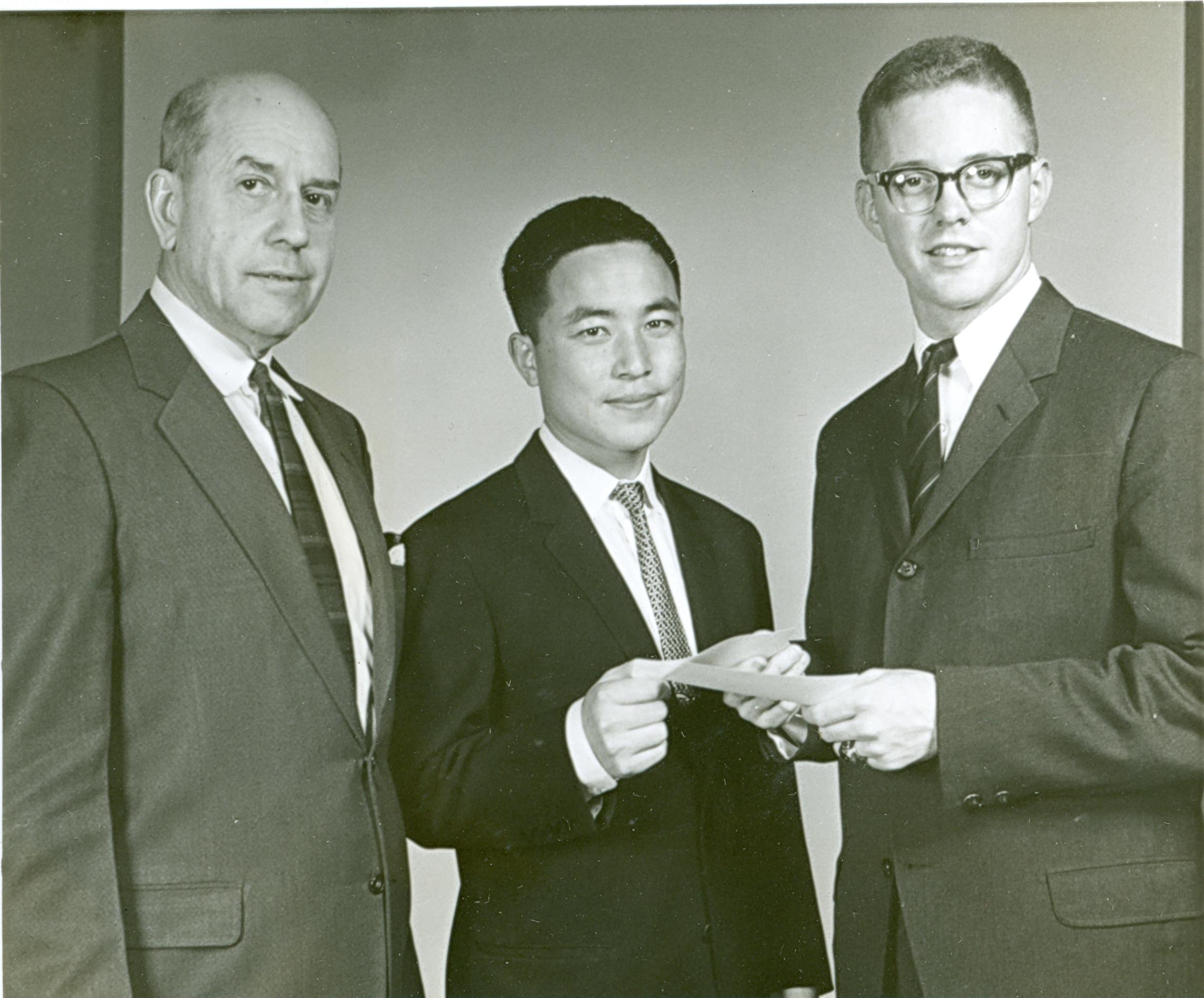 Winning the Rotary Club Travel Award at Auburn University, 1964