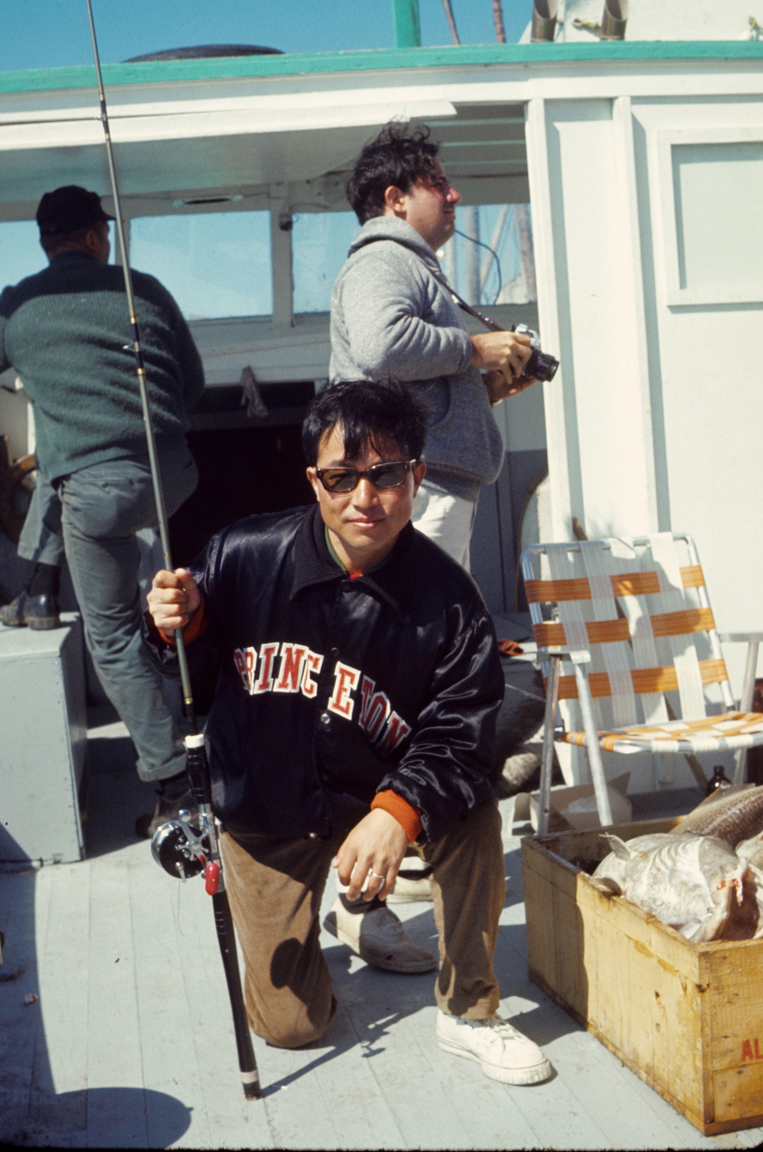 Representing Princeton at the annual International Collegiate tuna fishing contest in Nova Scotia, 1969
