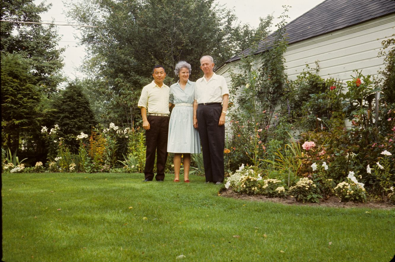 With the Purdy's of Grosse Pointe, MI, who hosted him during his Rotary Club tour of the U.S., 1964